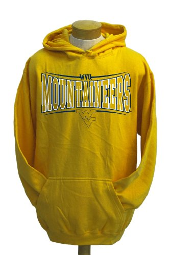 CI Sport NCAA Herren Sweatshirt West Virginia Mountaineers Brody, Herren, Gold, Small von CI Sport