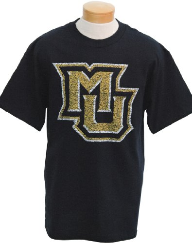 CI Sport NCAA Marquette Golden Eagles Biggies T-Shirt mit kurzen Ärmeln, Herren, Navy, XX-Large von CI Sport
