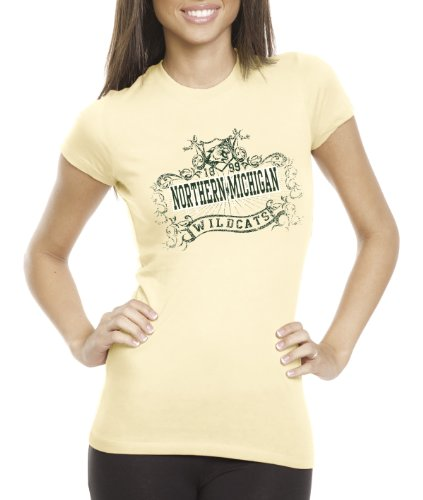 CI Sport NCAA Northern Michigan Wildcats Damen-T-Shirt Prius2, Damen, Banana Cream, X-Large von CI Sport
