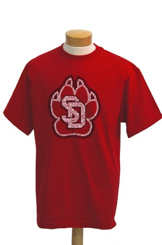 CI Sport NCAA South Dakota Coyotes Biggies T-Shirt mit kurzen Ärmeln, Herren, rot, XX-Large von CI Sport