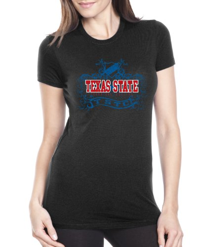 CI Sport NCAA Texas State Technical College Damen Prius2 Long Body Classic T-Shirt, Damen, schwarz, Medium von CI Sport