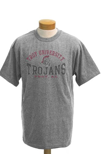 CI Sport NCAA Troy State Trojans Saunders T-Shirt Kurzarm, Herren, Athletic Heathered Grey, X-Large von CI Sport