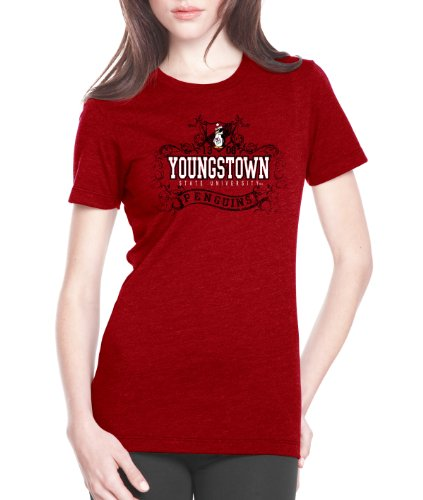 CI Sport NCAA Youngstown State Penguins Prius2 Damen-T-Shirt, Damen, rot, X-Large von CI Sport