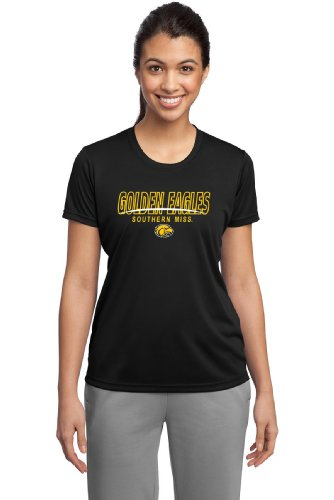 NCAA Damen Southern Mississippi Golden Eagles Cades Performance T-Shirt (Schwarz, Größe M) von CI Sport