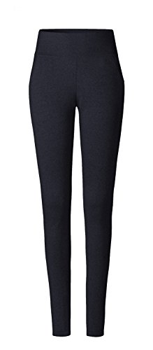 CURARE Damen Leggings Pockets Hose, Night-Blue Mel, M von CURARE