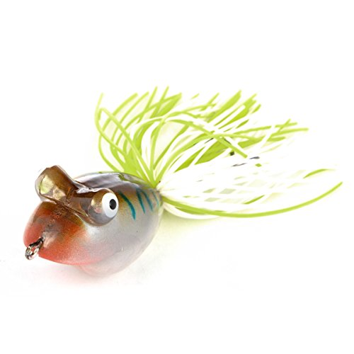 Cabo Cartoon Hard Plastic Frog Fishing Bait, Brown/Blue von Cabo