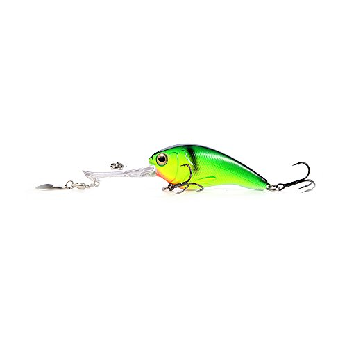 Cabo Skipper Medium Diving Fishing Bait, Green/Yellow von Cabo