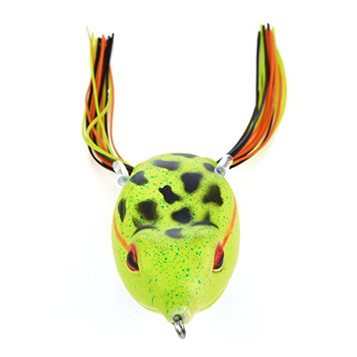 Cabo Soft Rubber Hollow Frog Fishing Bait, 65mm, Leopard Green von Cabo