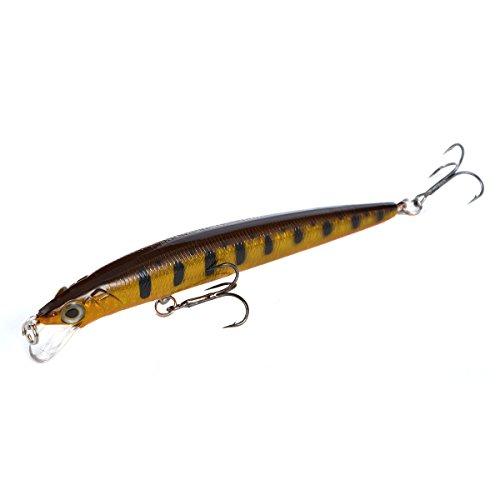Cabo Surfin' Minnow Fishing Bait with Stripes, Brown/Black von Cabo