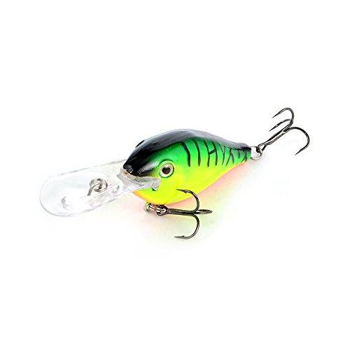 Cabo Wobble Willy Diving Fishing Bait, Green/Orange von Cabo