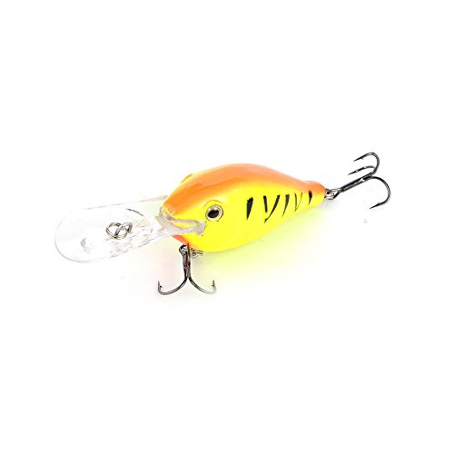 Cabo Wobble Willy Diving Fishing Bait, Orange/Yellow von Cabo