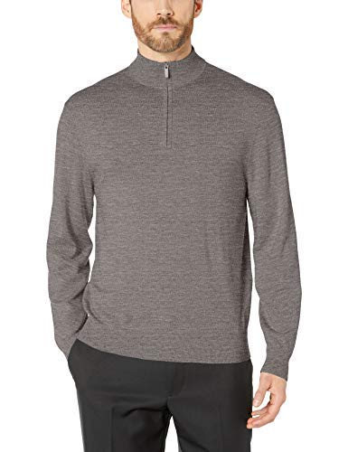 Callaway Herren Performance Thermo-Golf-Pullover, Merinowolle, 1/4 Reißverschluss, Herren, Performance Thermal Merino Wool 1/4 Zip Golf Sweater, Dunkles Granit Heather, Small von Callaway