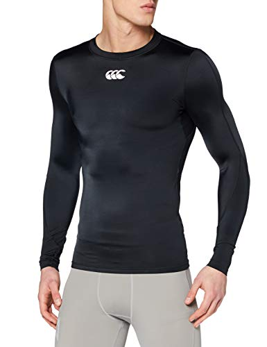 Canterbury Herren Mercury TCR Compression Long Sleeve T-Shirt, Schwarz, XL von Canterbury
