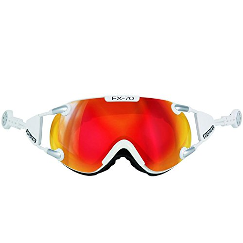 Casco Brille FX-70L Magnet-Link Carbonic, Colour: Weiss orange verspiegelt, Size: L von Casco