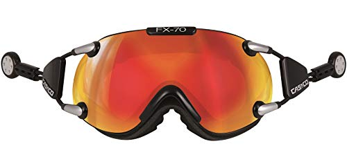 Casco Brille FX-70L Magnet-Link Carbonic, Colour: schwarz orange verspiegelt, Size: M von Casco