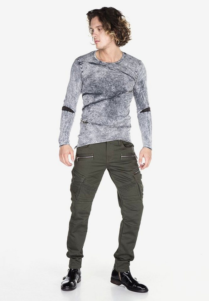 Cipo & Baxx Cargohose »Worked« im Biker-Stil Regular Fit von Cipo & Baxx