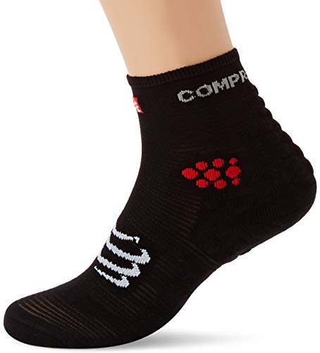 Compressport Herren Racing Sock High Black T1 Kompressions Laufsocke, Schwarz, 35-38 (T1) von COMPRESSPORT