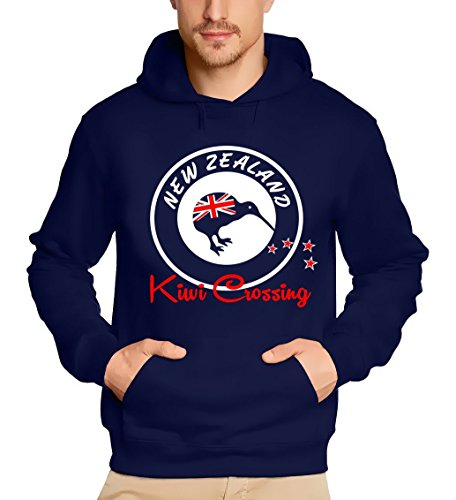 Coole-Fun-T-Shirts New Zealand NEU Kiwi Crossing Kapuzensweater NEUSEELAND Navy GR.XL von Coole-Fun-T-Shirts