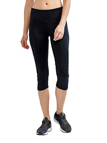 Craft Damen ADV Essence Capri Tights Laufhose, Black, S von Craft