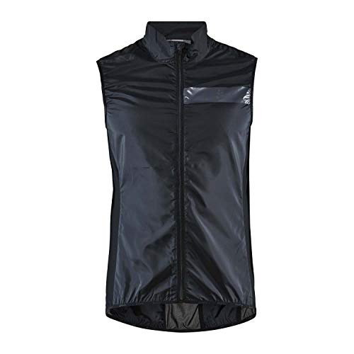 Craft Herren Essence Light Wind Vest Radjacke, Black, S von Craft