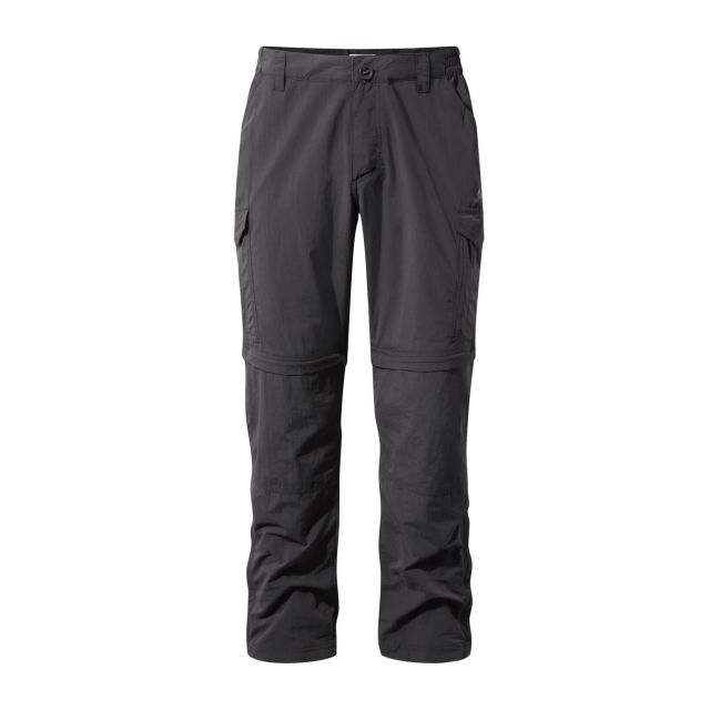 Craghoppers Nosilife Convertible II Trousers Herren Zip-Off Hose anthrazit Gr. S von Craghoppers