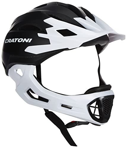 Cratoni C-Maniac Allround-Helm, Black-White Matt, S-M (52-56cm) von Cratoni
