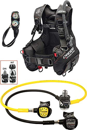Cressi 1946 Start Pro Scuba Set - Din Tauch Diving, Schwarz, L von Cressi 1946