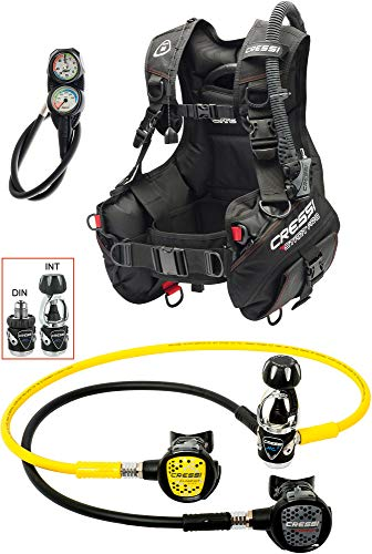 Cressi 1946 Start Pro Scuba Set - Int Tauch Diving, Schwarz, M von Cressi 1946