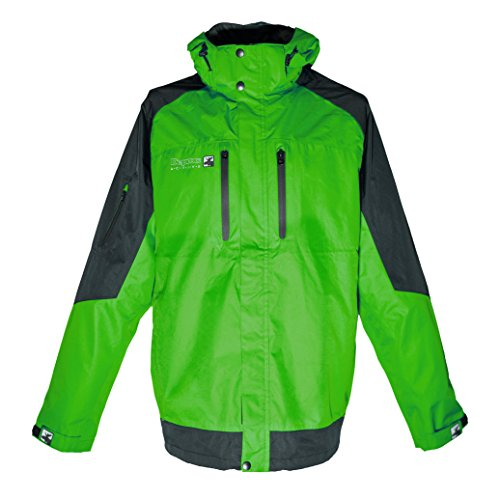DEPROC-Active Herren Outdoor Jacke und Regenjacke Walkworth, Lime Black, XXL von DEPROC-Active