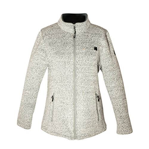 DEPROC-Active Herren Sweater/Strickfleece Whiteford Jacke, Grau (Grey-white mottled), Gr. 4XL von DEPROC-Active