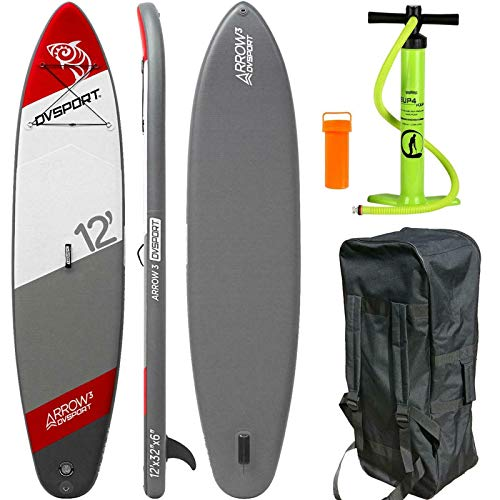 DVSport SUP 366 x 81 x 15 cm Inflatable Isup aufblasbar Stand Up Paddle Board Set Pumpe Surfboard Aqua 22360 von DVSPORT