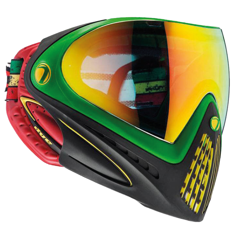 Dye I4 Paintball Thermal Maske (Rasta) von DYE