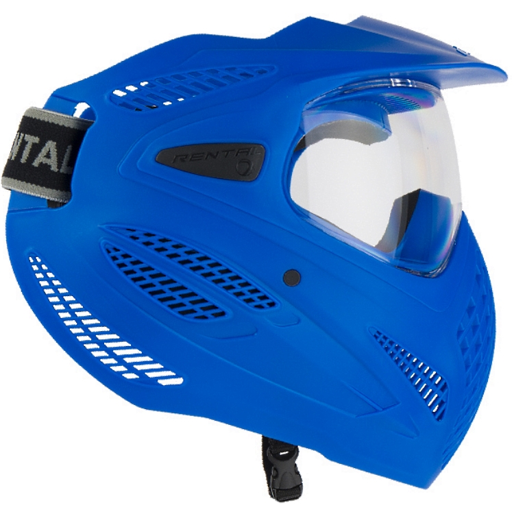 Dye SE RENTAL Paintball Maske, single Lens (blau) von DYE