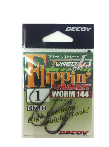 Decoy Worm 144 Flippin' Straight Worm Hooks Size 1 (7209) von Decoy