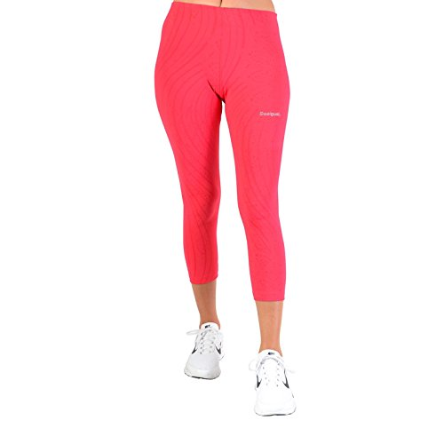 Desigual Damen Capri_Essen. Rosa/Blue/F, 3139 , L Knitted Leggings Tights, Rosa, XXS von Desigual