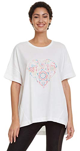 Desigual Damen Hindi Dancer T-Shirt, weiß, m von Desigual