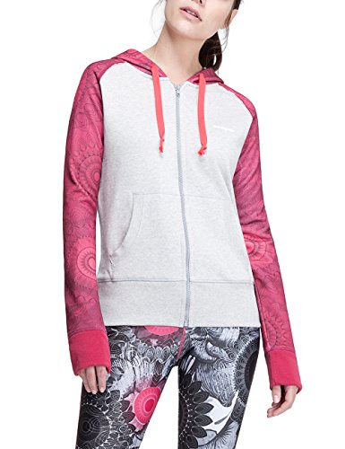 Desigual Damen L Zip Woman Woven Sweat Shirt Jacket, Grau, XS von Desigual