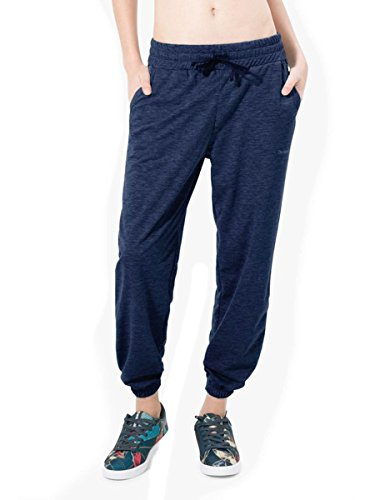 Desigual Damen Pant Night Garden, 5149 Blue Depths, L Knitted Long Trousers, XL von Desigual