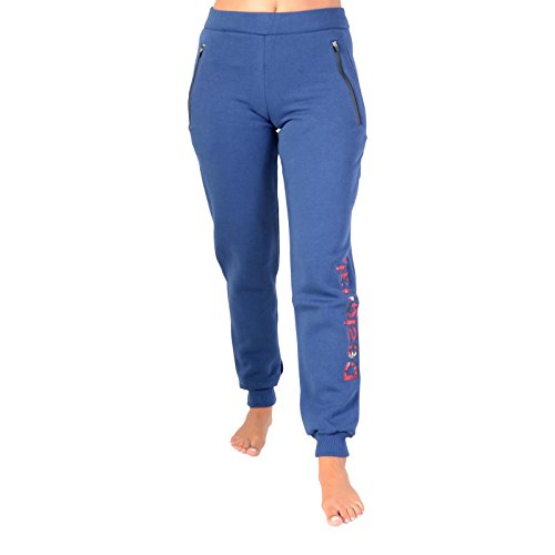 Desigual Damen Pant_Training Inter, 5149 Blue Depths, L Knitted Long Trousers, XL von Desigual