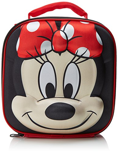 Disney Minnie Mouse Kinder Thermal 3D Schule Lunch Bag, 28 cm, Rot von Disney