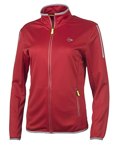 Dunlop Damen Club Line Ladies Knitted Jacket, Red, XL von Dunlop Sport