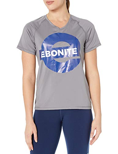 Ebonite Damen Swift Wicking Shirt, Graphit, Größe XXL von Ebonite Bowling Products