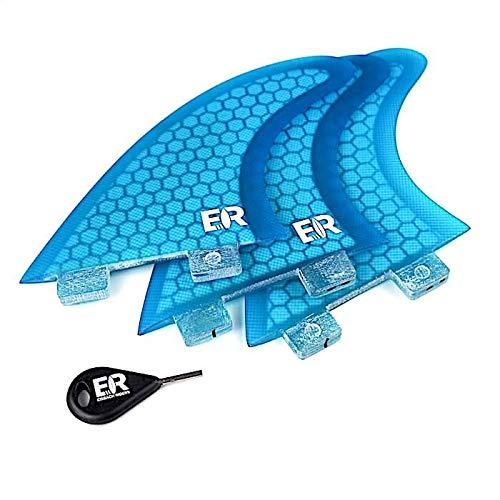 Eisbach Riders Surfboard Future Quad Fin Set schwarz mit Fin Key Gr/ö/ße G5 Medium Finnen Flossen f/ür Surfbrett und SUP