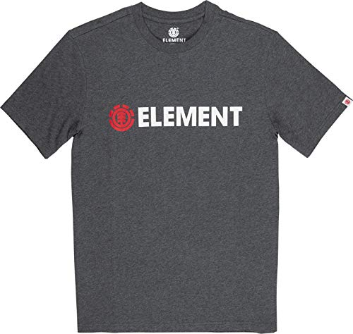 Element Herren Tees Blazin SS, Charcoal Heathe, S, Q1SSA6 von Element
