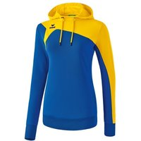Erima CLUB 1900 2.0 Kapuzensweat Damen new royal/yellow 42 von erima