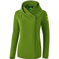Erima Essential Kapuzenjacke Damen twist of lime/lime pop 40 von Erima