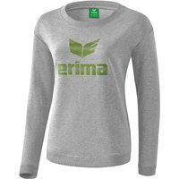 Erima Essential Sweatshirt light grey melange/twist of lime 38 von erima