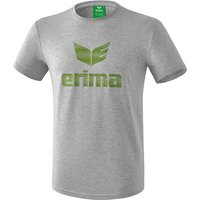 Erima Essential T-Shirt Kinder light grey melange/twist of lime 164 von Erima
