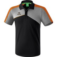 Erima Premium One 2.0 Funktions Poloshirt Kinder black/grey melange/neon orange 128 von Erima