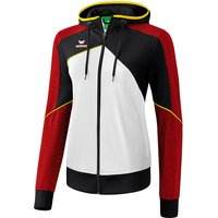 Erima Premium One 2.0 Trainingsjacke mit Kapuze Damen white/black/red 34 von erima